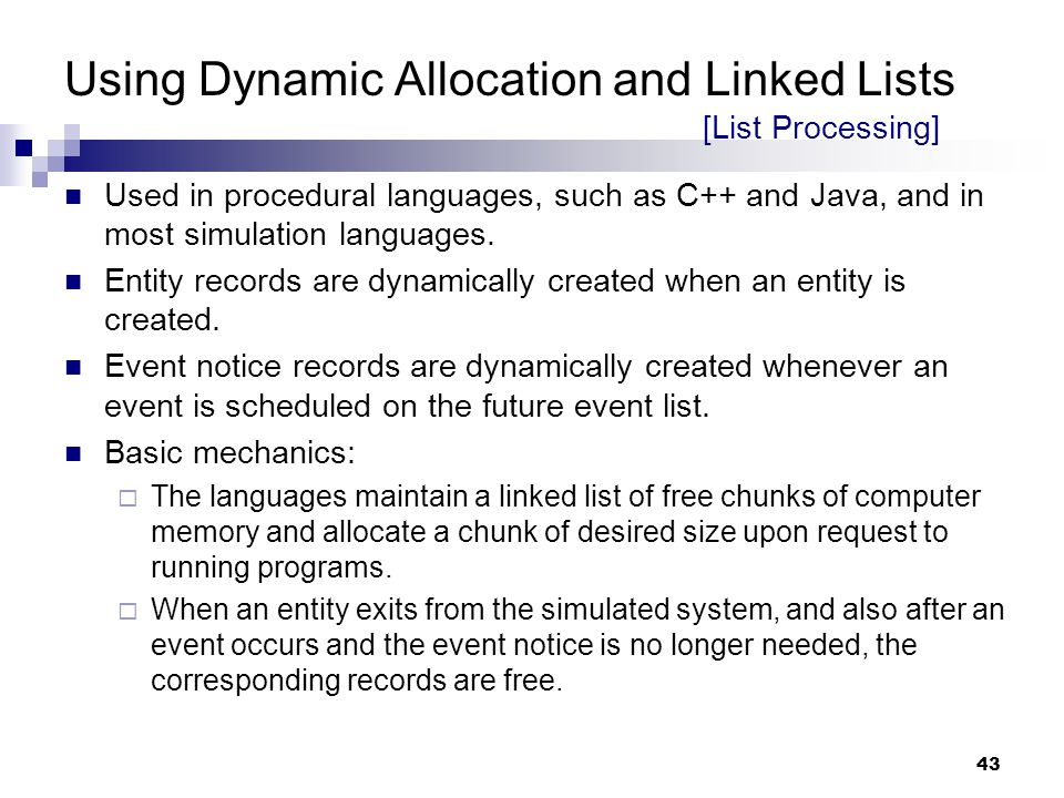 Using Dynamic Allocation and Linked Lists [List Processing]